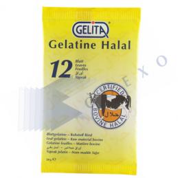 GELATINE FEUILLE - 12 feuille -